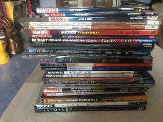 Misc marvel dc independent trade paperbacks