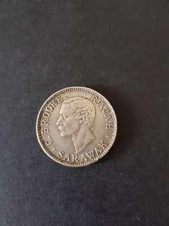1906 Sarawak 20 Sen Silver Coin