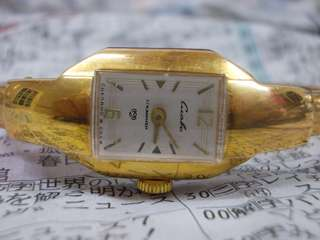 Vintage  Gold plated bangle lady watch