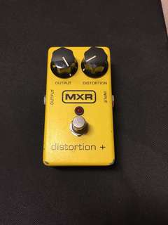 Mxr distortion+ effect guitar