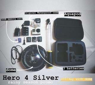 Go Pro Hero 4 Silver Rent