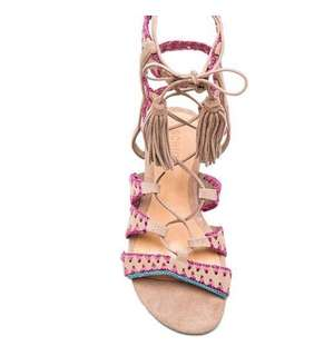 New! Schutz Leather and suede sandals