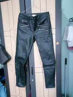 H&M leather biker pants