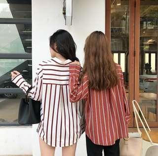 [PO] Striped Button Down Shirt