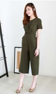 LOOKING FOR: Wherescinderella Leona Criss Cross Tie Romper In Olive