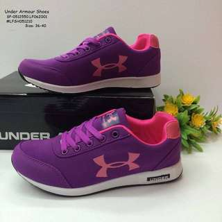 UNDER ARMOUR SHOES Size: 36,37,38,39,40 Always Provide Euro Size  Price : 850