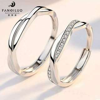 S925 Silver Love For Eternity Couple Rings