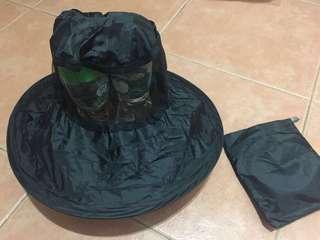 防紫外線可折疊防水布帽