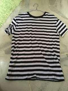 Stripe long T Shirt bershka