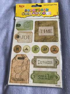 2 piece Vintage tags for scrapbooking