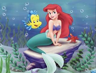 Disney The Little Mermaid Ariel Birthday Party Large Size Wall Hanging Decoration Back Drop Room Decoration