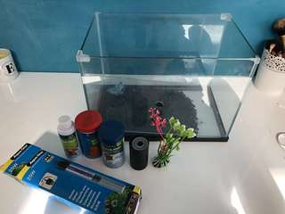 Fish tank including food, heaters etc