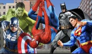 Marvel DC Comics Superheroes Spider-Man Birthday Party Theme Wall Room Decoration