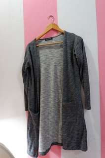 Long Size Outer in Grey