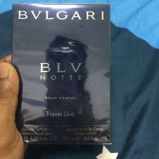 Bvlgari BLV NOTTE Pour femme 40ml with complementry 100ml body lotion