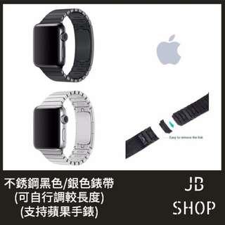 全新 Apple Watch 錶帶 38/42 毫米 黑/銀 鋼錶帶 Apple Watch Band 非原裝(1)