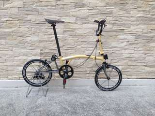 Brompton titanium bike for sale (fully modified except frame)