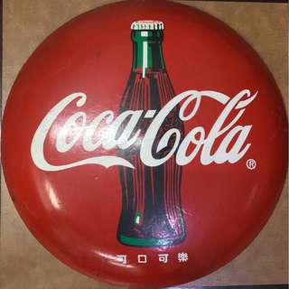 "30.5"" Coke Button Sign"