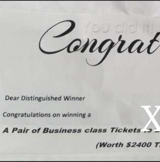 2 to go cheap $500 OFF air ticket valued at $2400.