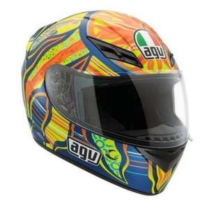 AGV K3 5-Continents Helmet , Distinct Name: 5-Continents, Gender: Mens/Unisex, Helmet Category: Street, Helmet Type: Full-face Helmets, Primary Color: Blue, Size: Md 032150A0015007