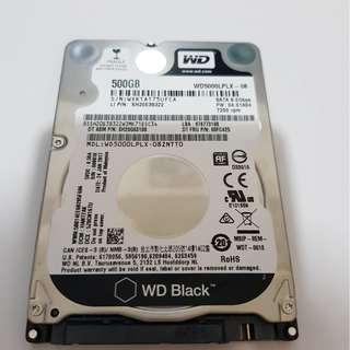 Western Digital WD Black Sata 2.5 inch 500GB Hard disk drive
