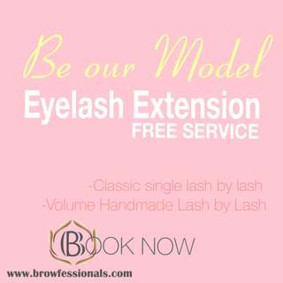 FREE EYELASH EXTENSION
