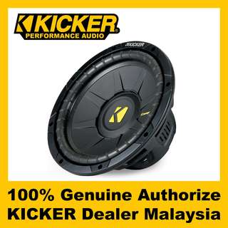 "KICKER CompS 10"" Single 4 ohm Subwoofer, 600W - CWS104"