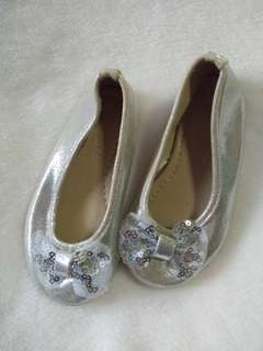 Silver baby shoes preloved