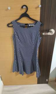 Hari Raya promo! Kiyo blue poka dots dress (S size)
