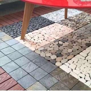 Stone/ Wood Decking - tiles