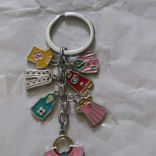 Keychain with 7 charms prndants