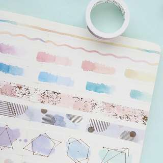 (PO) Watercolor Basic Washi Tapes Part 1