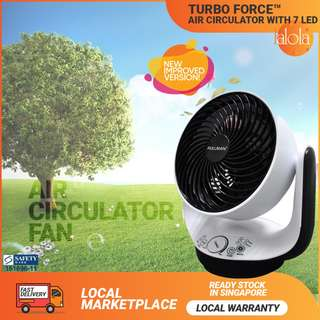 ✔FREE DELIVERY: PULLMAN® Turbo Air Circulator With 7 LED Ambience Light