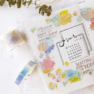 (PO) Watercolor Basic Washi Tapes Part 2
