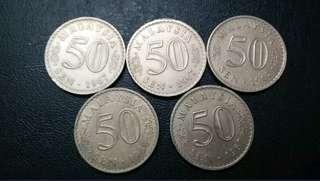 50c Parlimen 1967 & 1968. (5pcs)