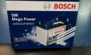 Car Battery S4 105D31L Bosch Battery SM Megs POWER                    要买就买有品质保证的货品👍                                                            Get quality goods👌                                                                              Cash and Carry