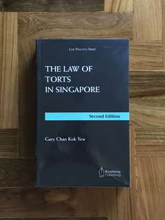 The Law of Torts in Singapore by Gary Chan (Year 1 NUS/SMU Law)