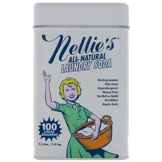 Nellie's All-Natural Laundry Soda 100 Loads,  3.3lbs (1.5kg)