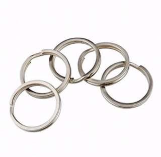 Round Metal Split Keychain Rings