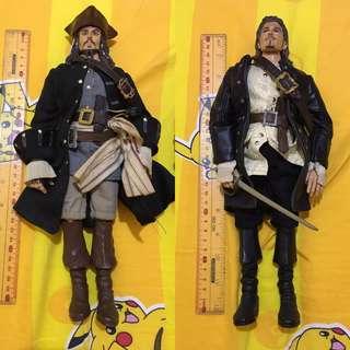 Disney 正版 加勒比海盜 魔盜王 - 傑克(杰克) & 鄧維廉 模型公仔 Jack Sparrow & Will Turner 神鬼奇航