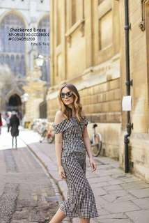 CHECKERED DRESS  Fits S To L  Price : 390