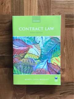 Contract Law (5th Edition) by Mindy Chen-Wishart (Year 1 NUS Law)