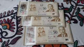 3-Pc Run  -  SG50 Comm Notes