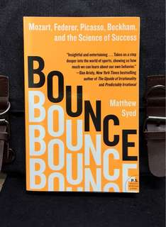 # Highly Recommended《Bran-New + Uncover The Truth & Secrets Of Why We Win or Success》Matthew Syed - BOUNCE : Mozart, Federer, Picasso, Beckham, and the Science of Success