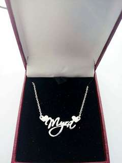 Authentic personalized 925 Italy silver name necklace