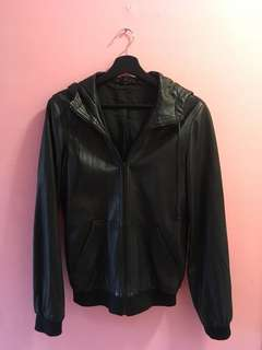 Marc Jacobs Authentic Leather Hoody
