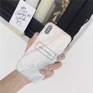 [iphone 6/6S/6Plus/7/7Plus/X] Pastel Pink Marble Case