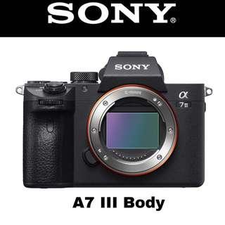 Sony A7 III Body Mirrorless Full Frame Camera