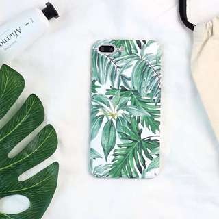 [iPhone 6/6S/6Plus/7/7Plus/X] Tropicana Leaf Phone Case