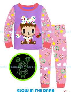 Tokidoki pyjamas set 🍩 glow in the dark
